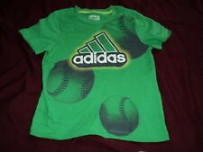 "Boy size 4 ~ Adidas ""The Go to Tee"" ~  Green ~  Short sleeve ~"
