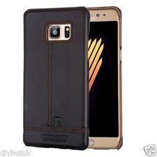 Pierre Cardin Galaxy Note7 Premium Leather Retro Cover Coffee Brown (E163)