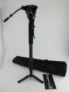 Axler NEW Spruce Carbon Fiber Pro Digital Camera Video Monopod VM-2370CF/VH-12