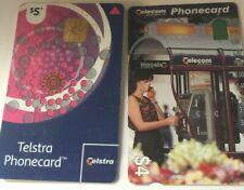 2 TELSTRA PHONE CARDS 2007