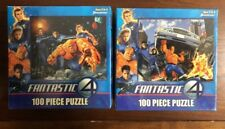 NEW MARVEL FANTASTIC FOUR  ~ 100 PIECE PUZZLES SET OF 2 NEW Unopened.