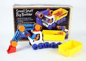"Vintage TOMY # 1092 "" Small Stuff Big Builder "" Kids Cab & Crane Building Toy"