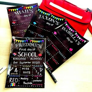 PERSONALISED First last day of School Nursery CHALK REUSABLE PRINT Yr After Yr!