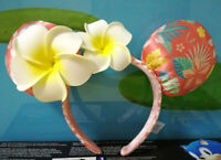 Disney Aulani Hawaii Minnie Ears Plumeria Headband Detail with Flower Kids Gift
