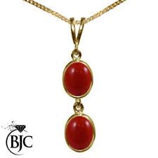Collares y colgantes de joyería rojo natural oro amarillo