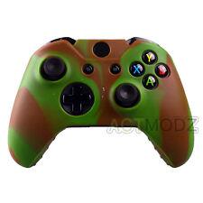 Anti-slip Soft Rubber Case Cover for Microsoft Xbox One Gamepad Green Brown Camo