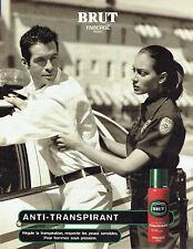 Publicité Advertising 107  1999  le déodorant Brut de Fabergé  anti-transpirant