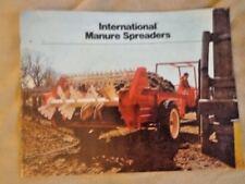 International Manure Spreaders 530 540 550 555 570 580 Tractor Sales Brochure