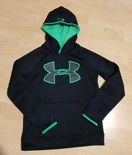 Under armour hoodie Top UK Size 9-10 YMD Black NEW