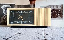Vintage alarm clock, Nairi clock, Slava mechanical melody, soviet USSR Russian