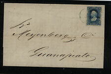 Mexico    stamped  folded  letter        KL0512