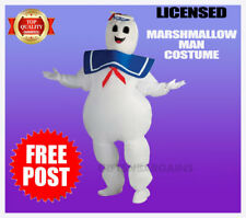 Ghostbusters Marshmallow Man Costume Stay Puft Tubby Soft Squeeze Ghost Sailor