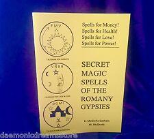 SECRET MAGIC SPELLS OF THE ROMANY GYPSIES  Finbarr Occult Magic Grimoire Magick
