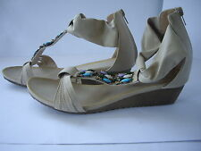 ALEXIS LEROY WOMENS FASHION WEDGE HEEL SANDALS BRIGHT JEWELS SIZE UK 7 EUR 40