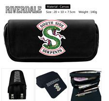 Riverdale South Side Serpents Pencil Case Canvas Zipper Pen MakeUp Cosmetic Bag