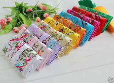 10PCS MIX COLORS EMBROIDERED BROCADE SILK JEWELRY ROLLS TRAVEL BAG CASE POUCH