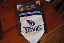 New size L Pet Dog Collar NECK BANDANA  NFL TENNESSEE TITANS FOOTBALL White Blue