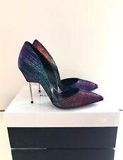 Kurt Geiger London Bond Purple High Heel Court Shoes Size 4 EU 37 Brand New