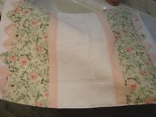 Cottage Chic Shabby Pink Roses Large 1 of a KIND Bath mat Hand M.