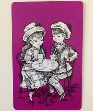 Vintage Boy And Girl Swap Card