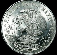 1968 Mexico City Olympics Comemorative 25 Peso Silver  BU/UNC A40-309