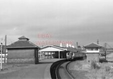 PHOTO  BELFAST   LARNE HARBOUR 3 CAR DMU DISTANT REAR VIEW OF UNIT STATION AND S