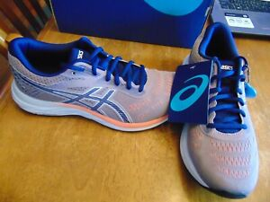 nwt womens asics gel excite 6 size 8.5 wide violet blush/dive blue
