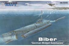 "Special Hobby SN72006 Special Navy 1/72 Biber ""German Midget Submarine"""