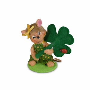 Annalee Dolls 2021 St. Patrick's Day 3in Shamrock Mouse Plush New with Tags