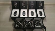 NEW batt! Pebble Steel 33mm Stainless Steel Case Black Classic Buckle (401SLR)