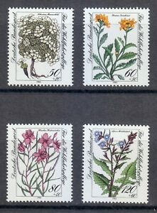 Germany 1983 MNH Mi 1188-1191 Sc B611-B614 Flowers **