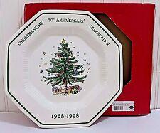 NIKKO Christmas Tree Serving Tray 1998 30th Anniversary Celebration Plate in Box