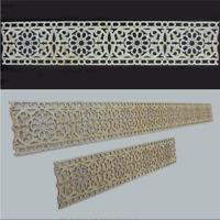 2m Holzornament Paneele Sperrholz Bordüre Ornament Dekor 'Blüten' Verzierung