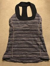 Lululemon Women's Gray Racerback Tank Top Sports Bra Size 6