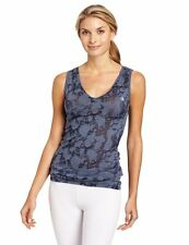 NEW ZUMBA Wear SPLATTER SLEEVELESS BURNOUT, NWT, MED  TOP T SHIRT, INDIGO