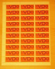 DDR Dienstmarken Bogen VD, DV 1