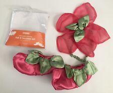 NWT Gymboree 18-24 Pink Fairy Hat & Booties Halloween Costume Headband & Shoes