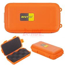 Dry Box Waterproof Storage with O-Ring Orange Floating Container Case w/ Padding