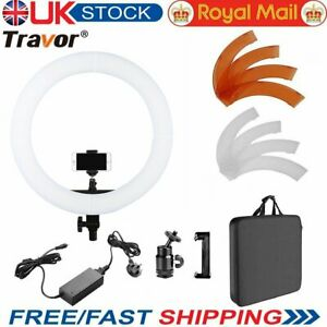"""UK 18"""" 5500K LED Ring Light Ring Continues Light Dimmable for Photo Video Camera"""