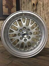 15X7 +30  4x100 4x108 Silver ACURA HONDA MINI VW FORD GTI MK1 MK2 MK3 EG EK