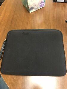 TUMI 9.7 iPad Cover Sleeve Black Neoprene Nylon And Leather