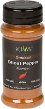 Kiva Gourmet Smoked, Ghost Chili Pepper Powder Bhut Jolokia - Non GMO, Vegan,