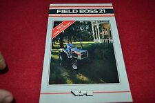 White Field Boss 21 Tractor Dealers Brochure BWPA