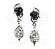 Bacchanal Rose Earrings - Alchemy Gothic 'Wine and Roses' Jewellery E347
