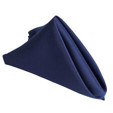"25 pcs Navy Blue Polyester 17x17"" TABLE NAPKINS Wedding Party Kitchen Linens"