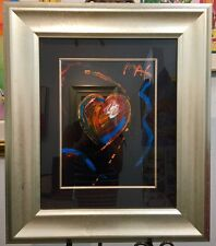 Peter Max  Black Heart Original Painting  acrylic on canvas