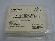 CAPTIVA A5960002SPL PLASMA PROTEIN PRECIPITATION 96-WELL, .2um FILTER PLATE NEW