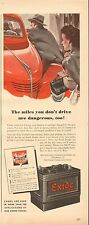 WWII ,1944 mag. ad 1216 for Exide Car Battery, The Electric Storage Battery Co.