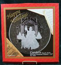 "VINTAGE - CAROLERS by L.E. SMITH - ROUND HOSTESS PLATTER - No. 1493 - 13"" dia."