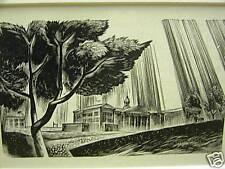 LYND WARD 1940 ECONOMIC FINANCE CENTER Art Print Matted